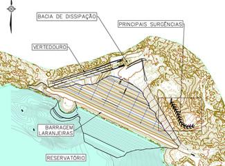 Projeto detalhado para medida de contenção de pontos de surgências identificados na ombreira direita