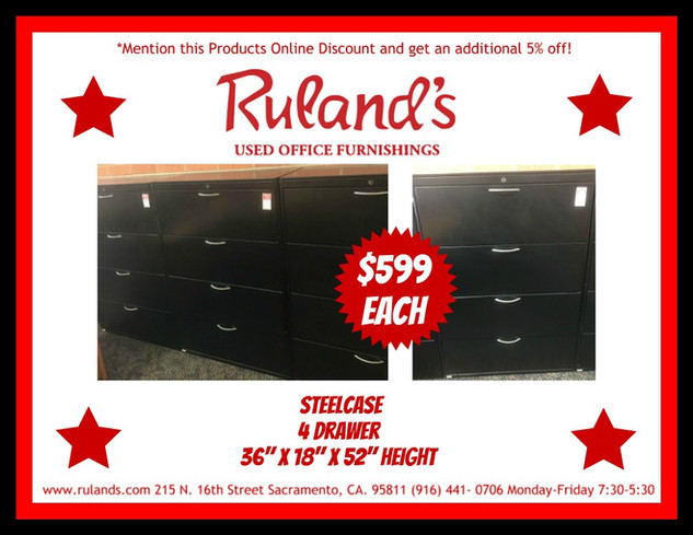 Steelcase Filing Cabinets $599