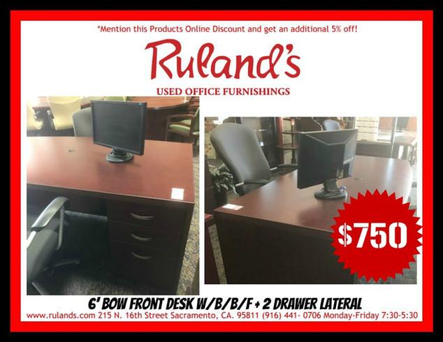 Bow Front Desk $750