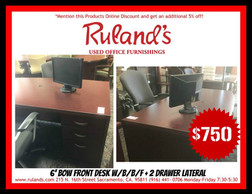 Bow Front Desk $750