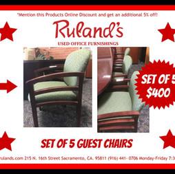 Guest Chair Set $400