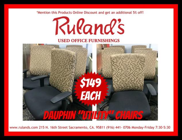 Dauphin Utility Chairs $149