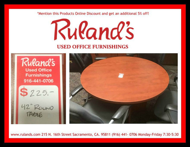 """42"""" Round Table $225"""