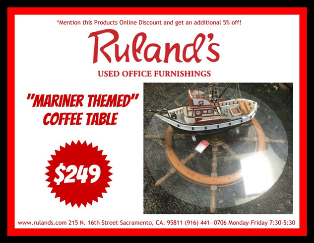 Mariner Themed Coffee Table $249
