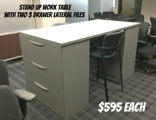 Stand Up Work Table $595