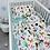 Thumbnail: סט למיטת תינוק חיות בר/טורקיז