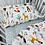 Thumbnail: סט למיטת תינוק חיות בר/כוכבים