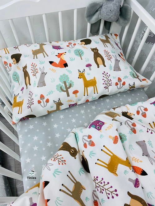 סט למיטת תינוק חיות בר/כוכבים