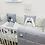 Thumbnail: סט TINIES למיטת תינוק/אפור