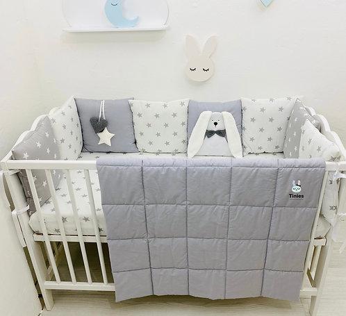 סט TINIES למיטת תינוק/אפור