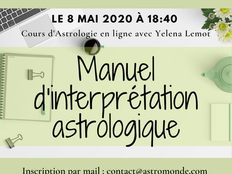 Cours d'Astrologie on line