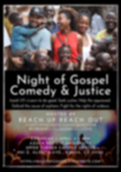 Night of Gospel Comedy Justice Postcard.