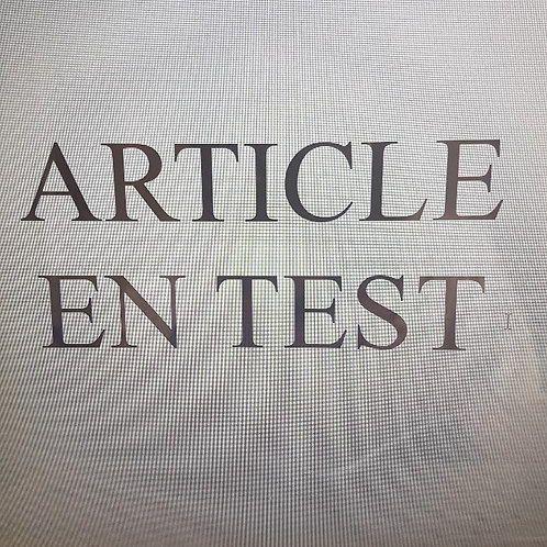 article en test