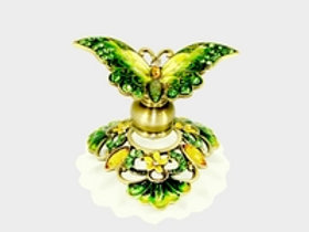Green Jeweled Butterfly Welforth Perfume Bottle