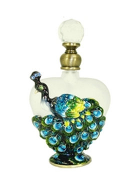 Peacock Elegance Perfume Bottle 4.5  SOLD OUT