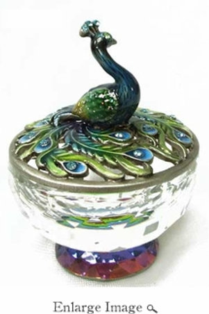 Peacock Crystal Delight Welforth Jewelry Box