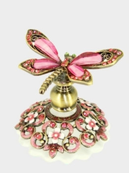 Pink Sparkles Dragonfly Welforth Perfume Bottle