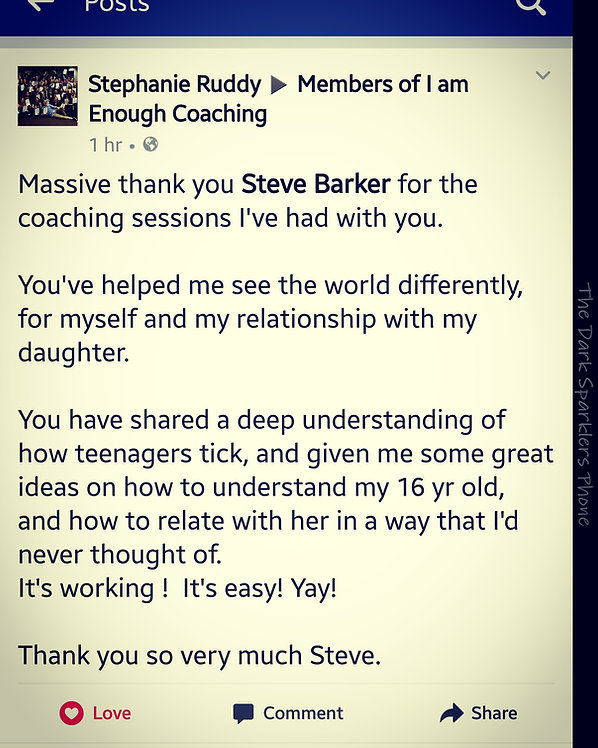 Testimonial from Stephanie for I Am Enough Coaching