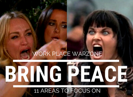 WORK PLACE WAR ZONE - BRING PEACE BY FOCUSING ON THESE 11 AREAS