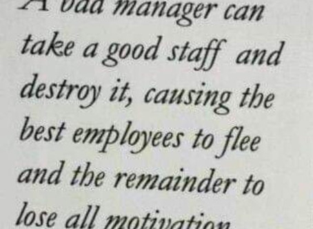 We all know a bad Manager or 3