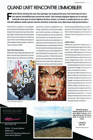 Article de la revue My Chic Residence - Sylvie Perrin QueenOfClay