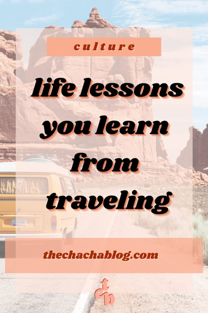 lessons from traveling