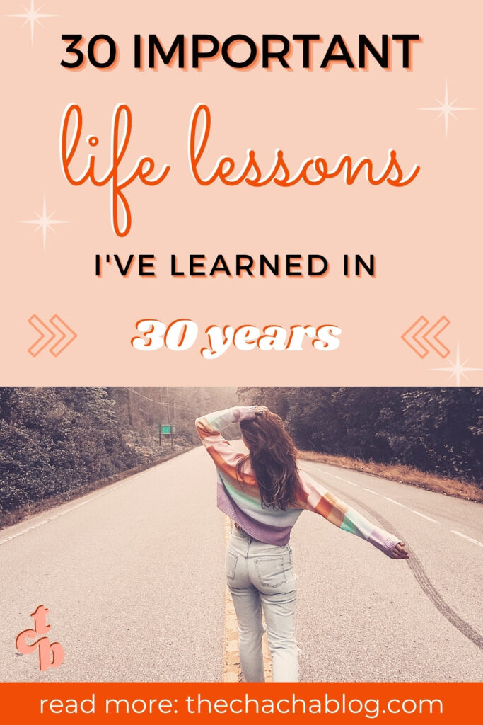 thirty life lessons