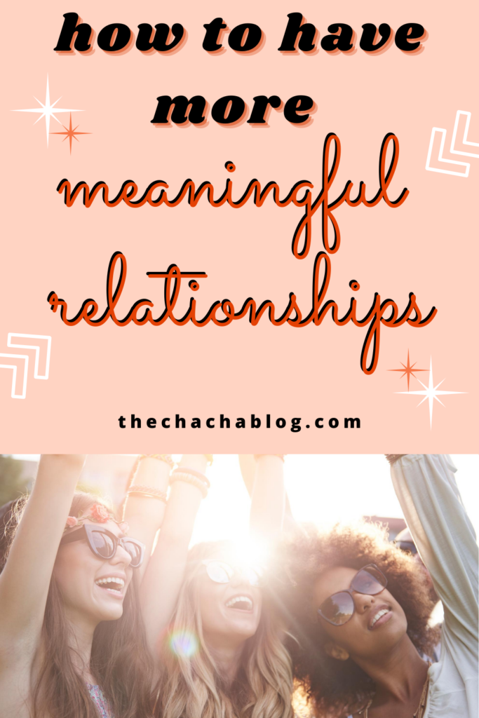 meaningful relationships