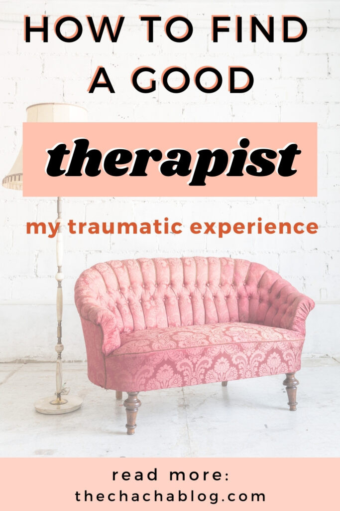 how to find a good therapist