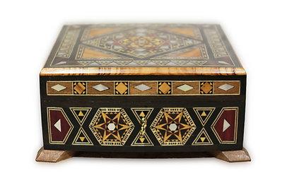 Holz Mosaik Schatulle K 1-9-43