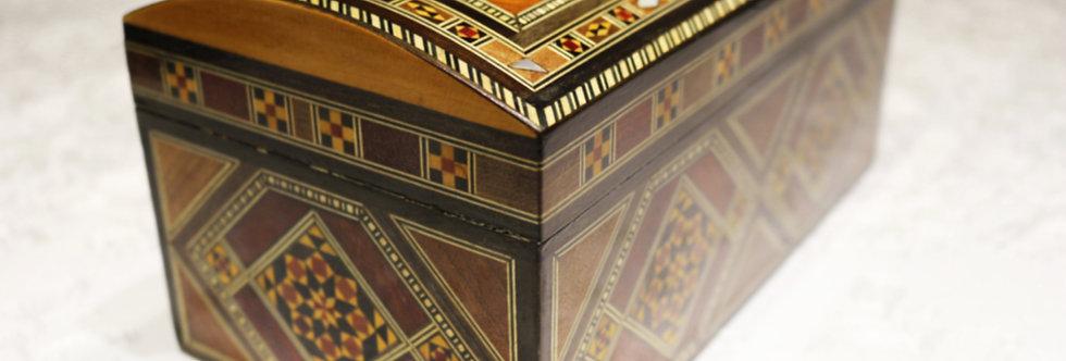 Holz Mosaik Truhe K 3-6-26