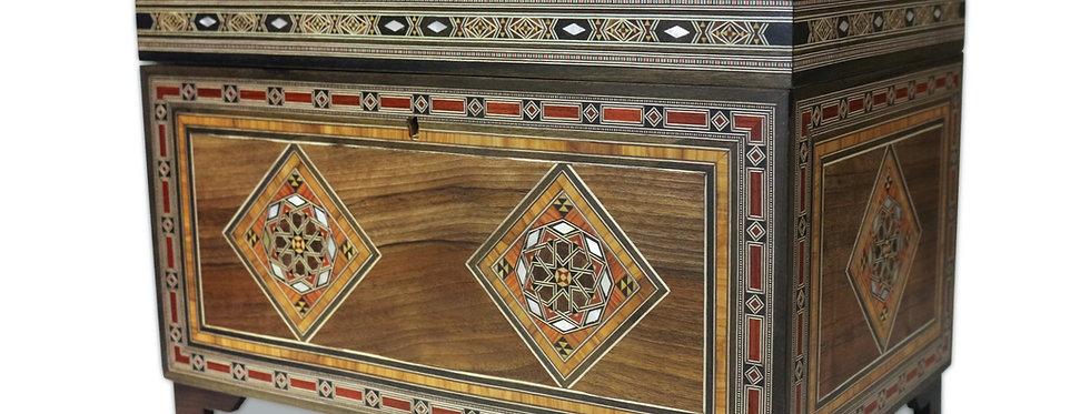 Holz Mosaik Truhe