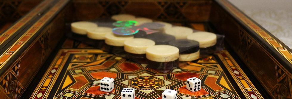 Backgammon Kunststoff  Steine
