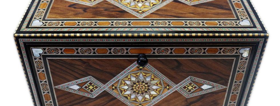 kleine Kommode aus Holz Mosaik Damaskunst