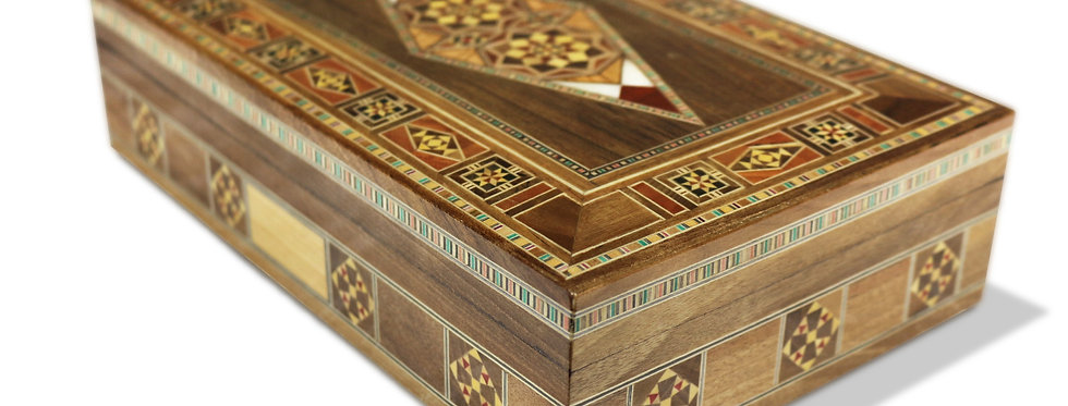Holz Mosaik Schatulle K 2-3-45