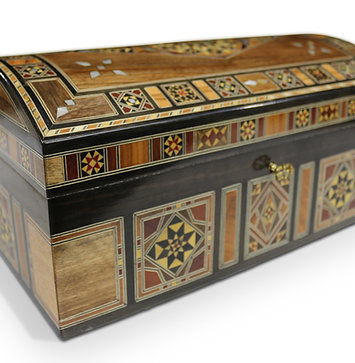 Holz Mosaik Truhe T 3220