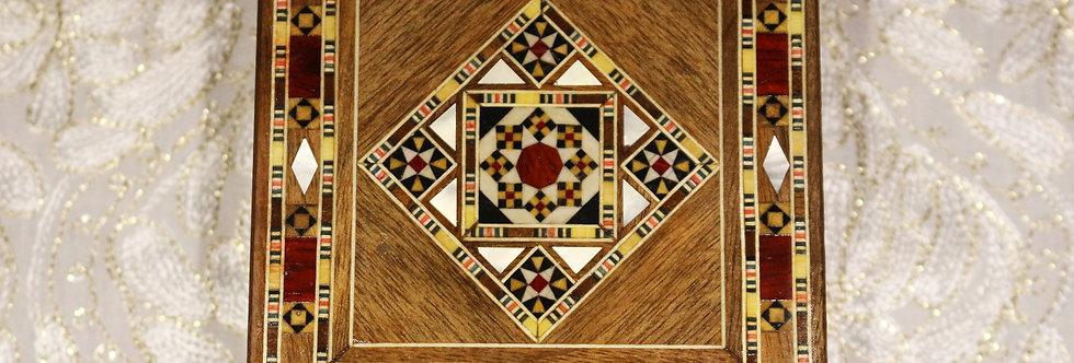 Holz Mosaik Schmuck Box K 1-1-43