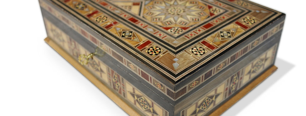 Holz Mosaik Schatulle K3020