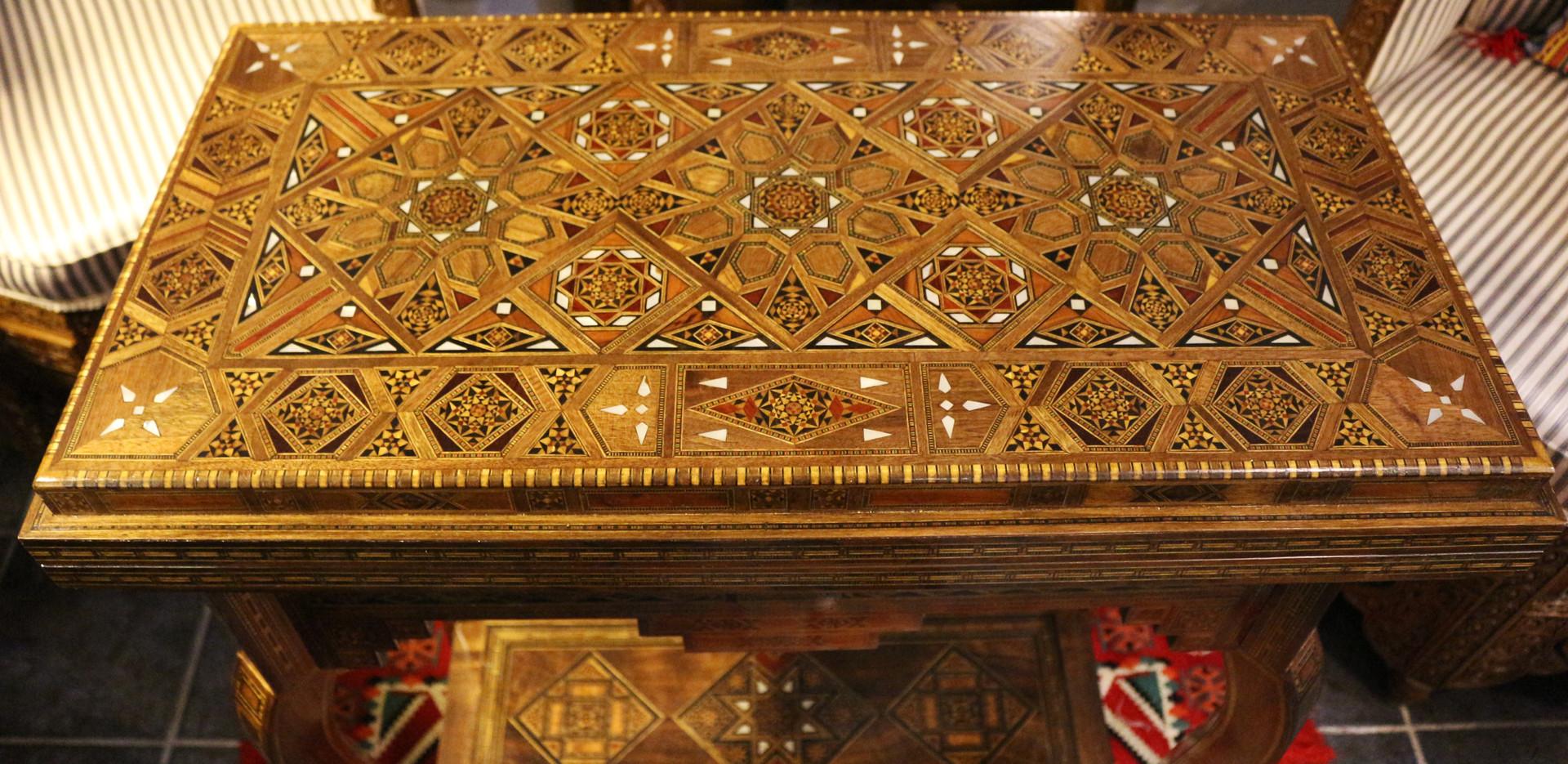 Holz Backgammon/Schach/Karten Spiel  Klappbar Tisch
