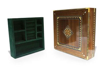Holz Mosaik Schatulle mit Unterteilung KU 11-25