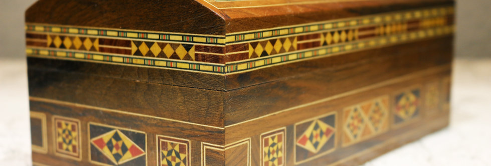 Holz Mosaik Truhe K 3-6-27