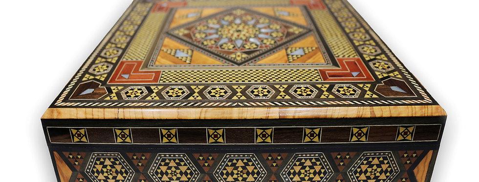 Holz Mosaik Schmuckschatulle
