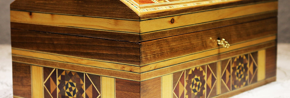 Holz Mosaik Truhe K 3-6-25