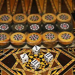 Backgammon Mosaik Steine