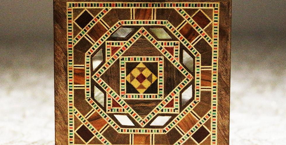 Holz Mosaik Schmuck Box K 1-1-41