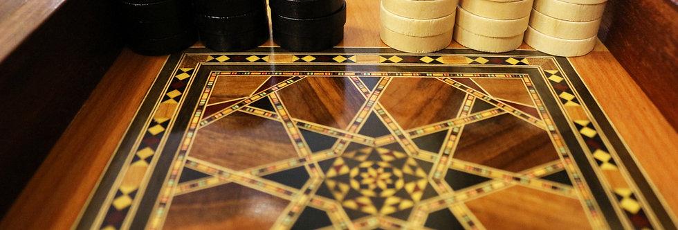 Backgammon Holz Steine