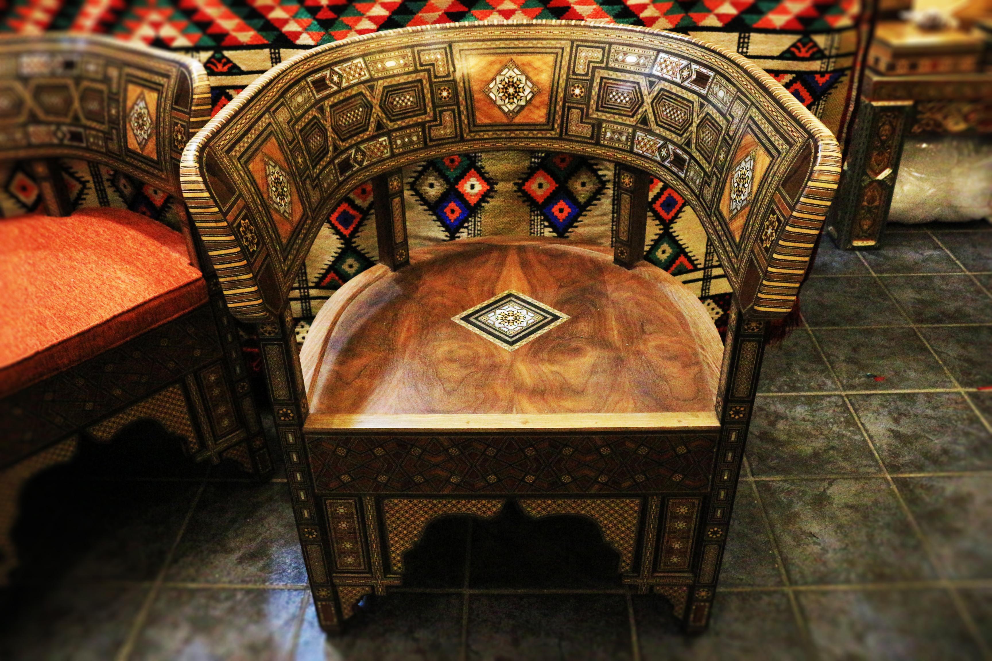 Syrische Masaik Sessel 1