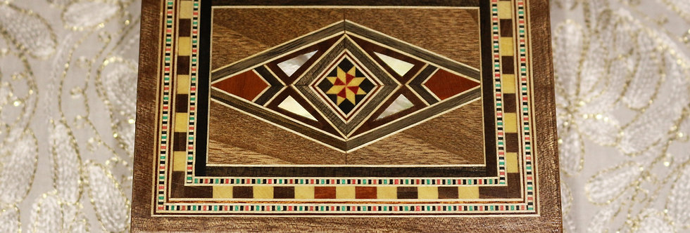 Holz Mosaik Schmuck Box K 1-3-41