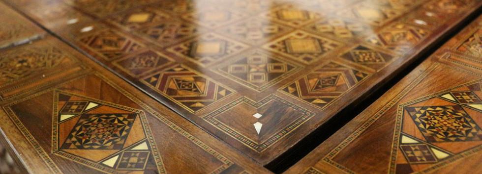 Holz Backgammon/Schach/Karten Spiel  Klappbar Tisch 6