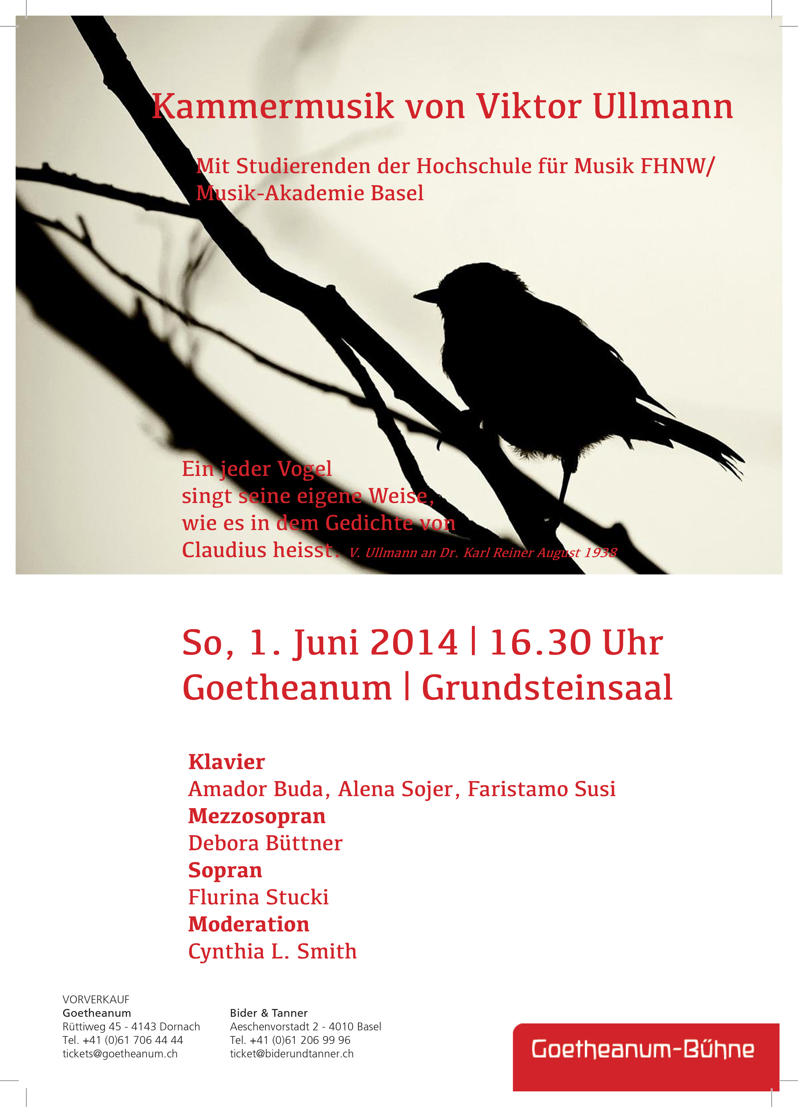 Ullmann Recital at the Goetheanum